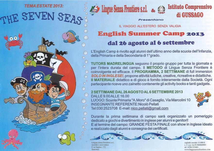 English Summer camp 2013