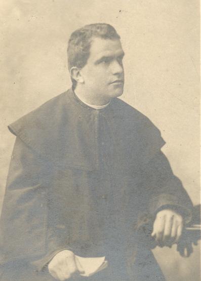 Mons. Giorgio Bazzani negli anni 90 dell'800