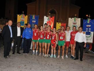 Premiazione della squadra gussaghese al Superpalio della Franciacorta 2013