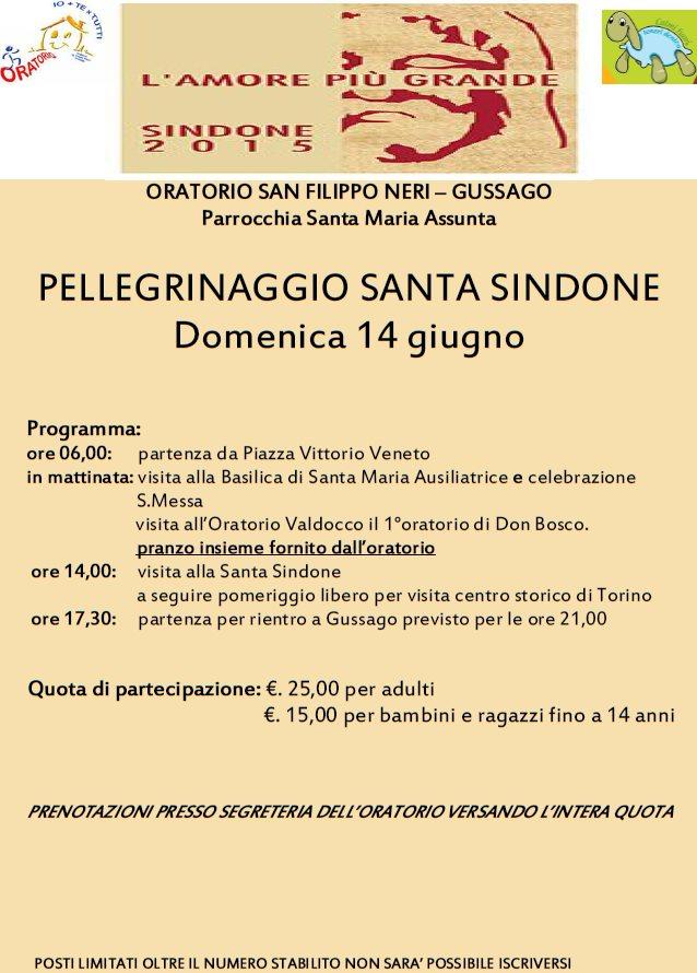 Pellegrinaggio Santa Sindone 2015
