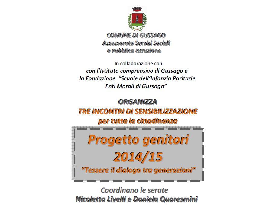 Progetto Genitori 2014-2015