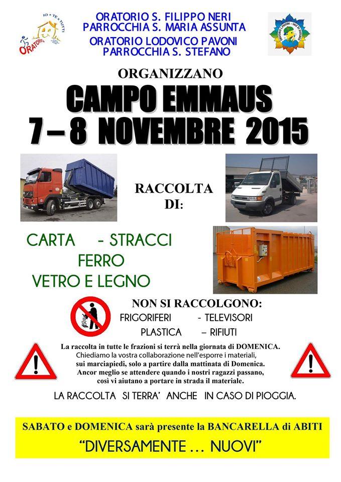 Campo Emmaus Novembre 2015