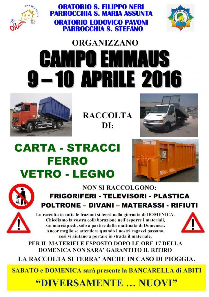 Campo Emmaus aprile 2016