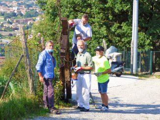 Volontari sentiero Croci luglio 2020