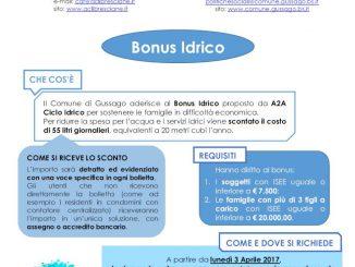 Bonus idrico 2017