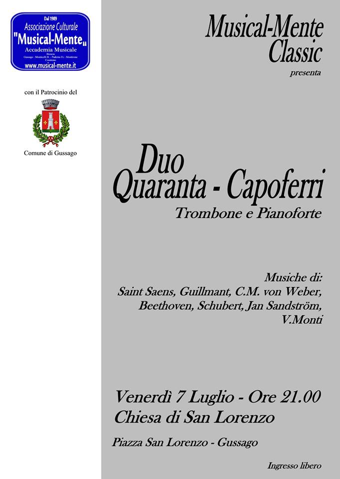 Concerto Duo Quaranta Capoferri luglio 2017