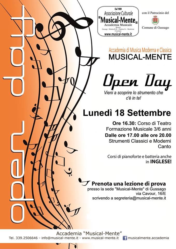 Open Day Accademia Musical-Mente settembre 2017