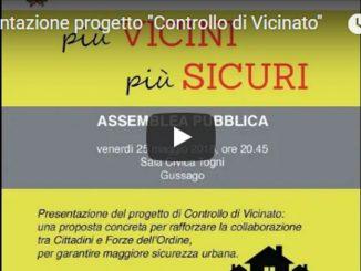 Video serata presentazione controllo Vicinato maggio 2018