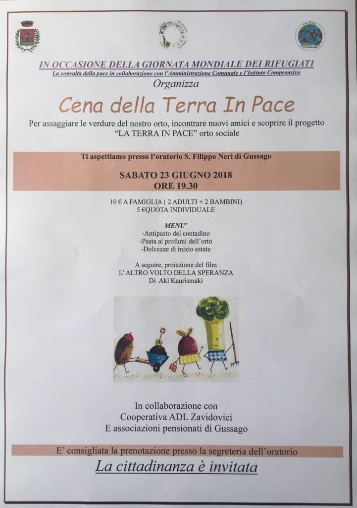 Cena Terra Pace giugno 2018