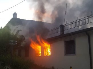Incendio via Pinidolo giugno 2018