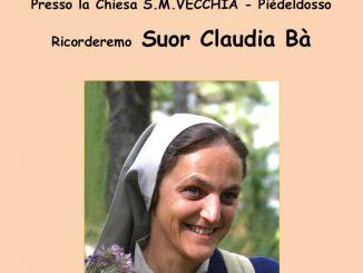 Messa ricordo suor Claudia Ba giugno 2018