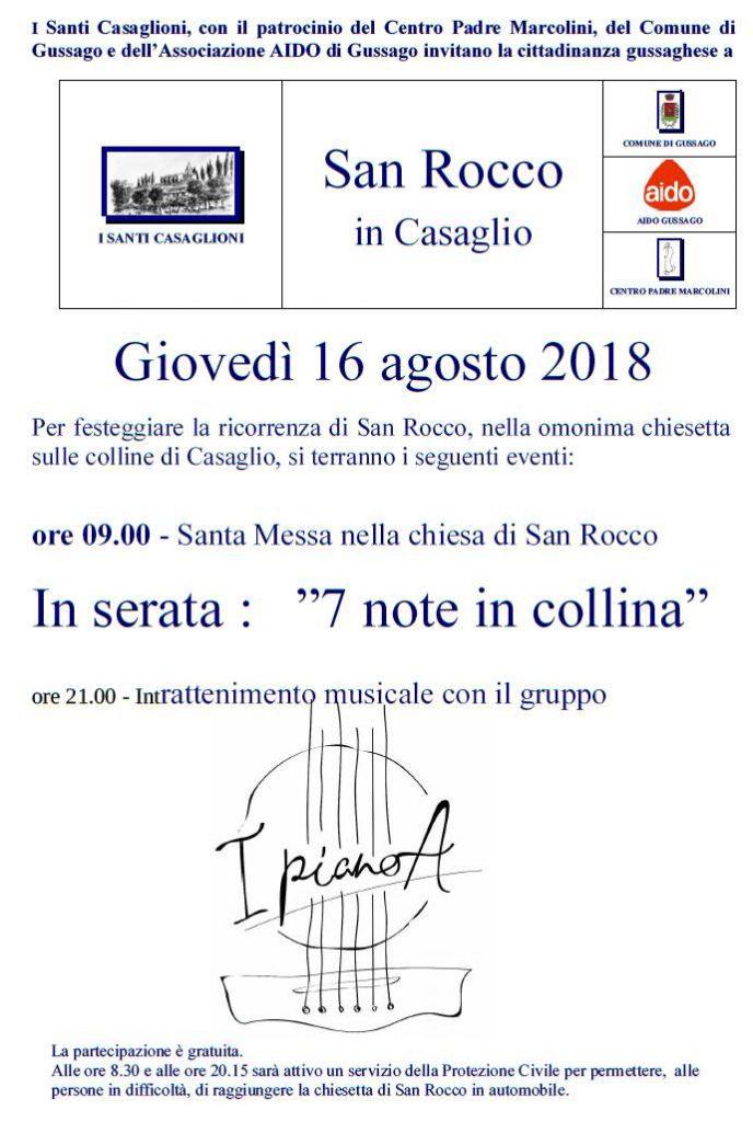 Festa San Rocco agosto 2018