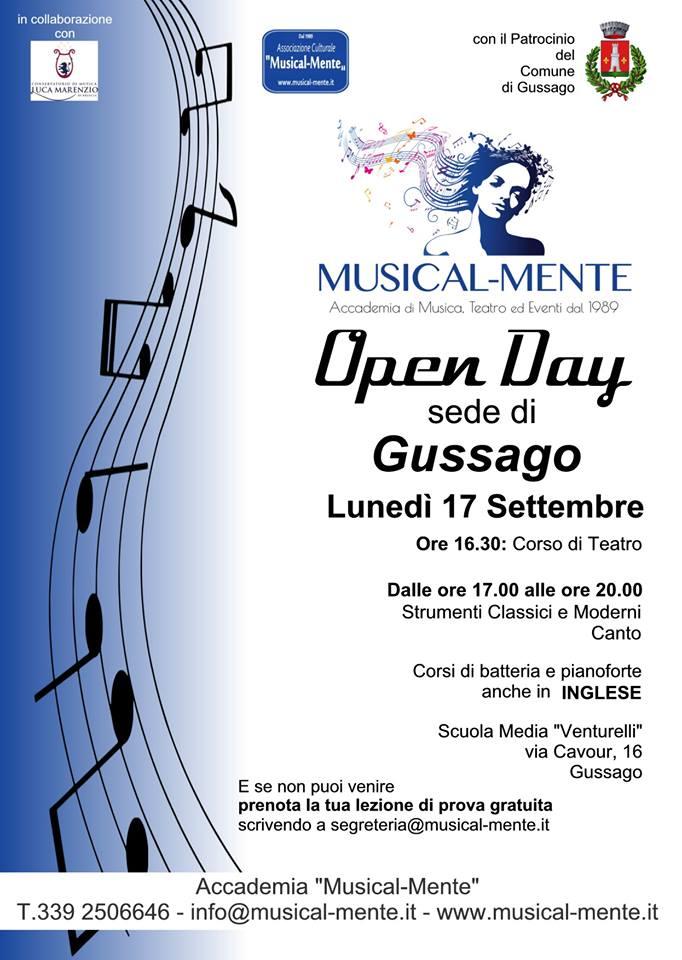 Openday Musical-Mente settembre 2018