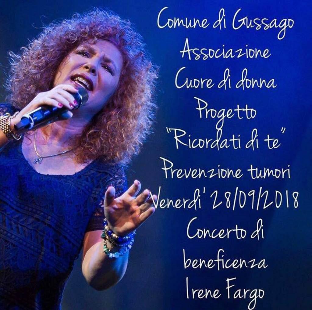 Irene Fargo concerto settembre 2018