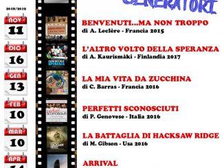 Rassegna cinematografica generatori 2018-2019
