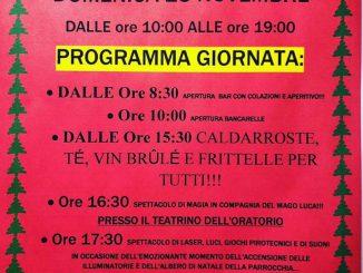 Mercatini Nalate oratorio Ronco novembre 2018