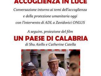 Incontro Accoglienza luce film paese Calabria dicembre 2018