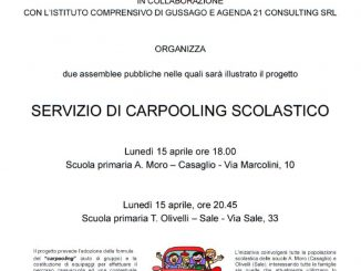 Presentazione carpooling scolastico aprile 2019