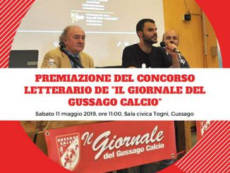 Premiazione concorso letterario Gussago Calcio maggio 2019