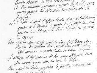 Contratto Cattaneo pala Madonna Rosario