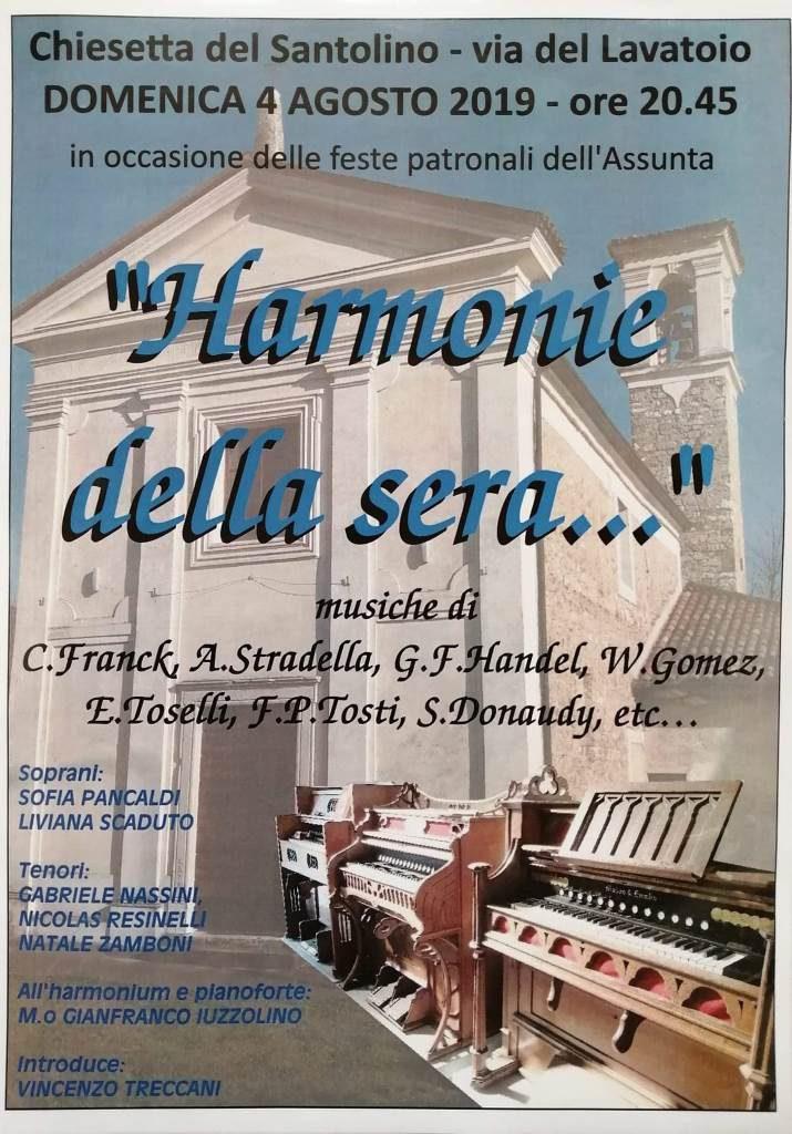"""Concerto """"Harmonie della sera"""" agosto 2019"""