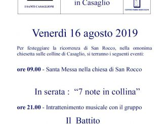 Festa San Rocco agosto 2019