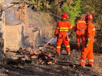 Incendio colline Casaglio luglio 2019