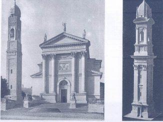 Torre campanaria Gussago anno 1931 e modellino