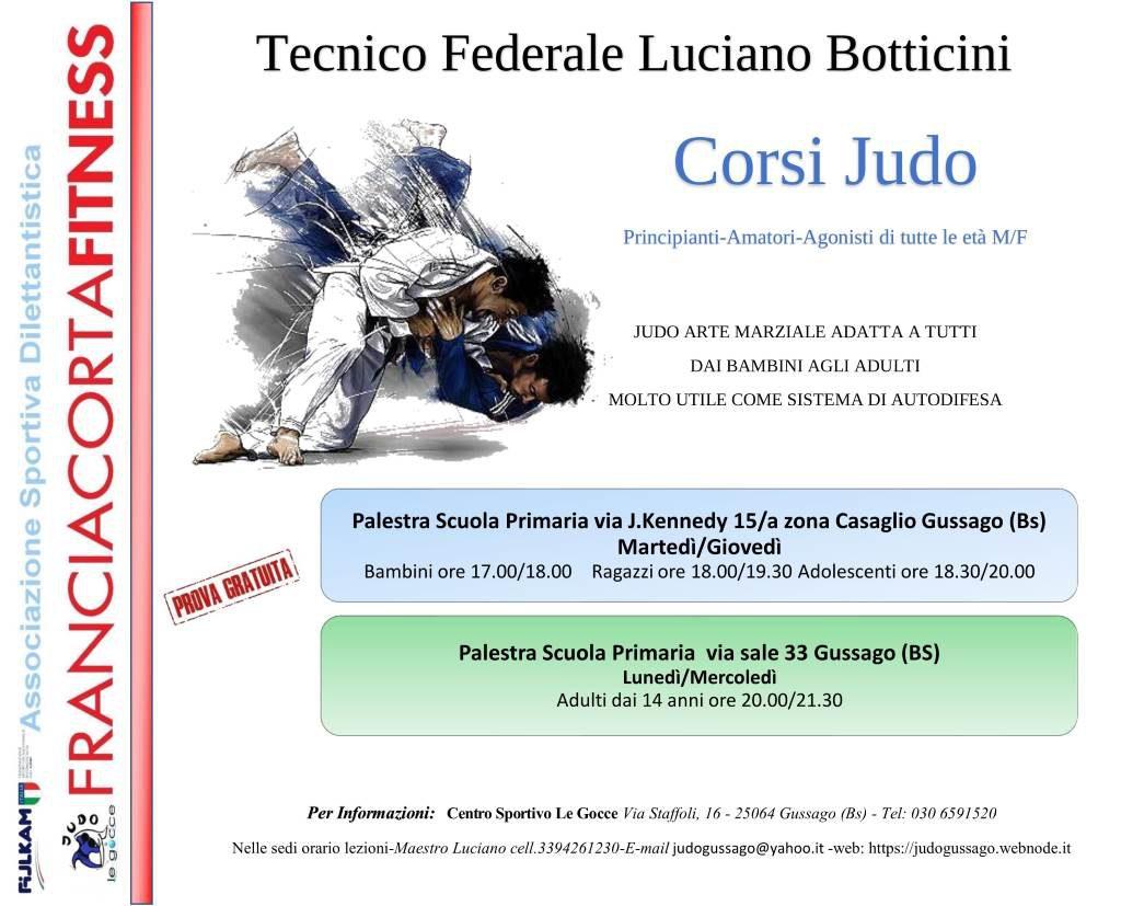 corsi judo settembre 2019