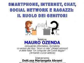Incontro smartphone Internet social network genitori ottobre 2019
