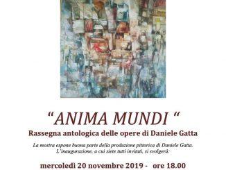 "Mostra ""Anima Mundi"" opere Daniele Gatta novembre 2019"