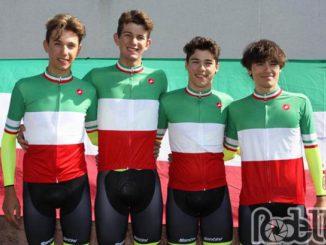 Tomas Trainini campione italiano cronometro squadre ottobre 2019