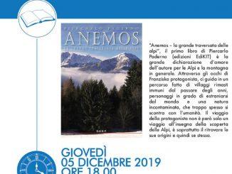 """Presentazione libro """"La grande traversata delle Alpi"""" di Piercarlo Paderno dicembre 2019"""