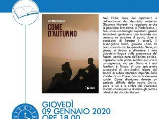 """Presentazione libro """"Come d'autunno"""" di Stefano Pazzaglia gennaio 2019"""