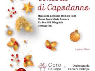 Concerto Capodanno Calliope gennaio 2020