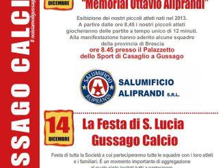 Torneo Aliprandi-Santa Lucia Gussago Calcio dicembre 2019