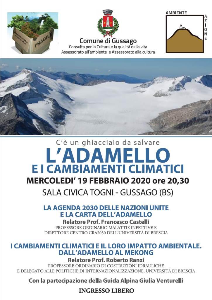 Adamello cambiamenti climatici febbraio 2020