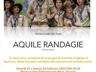 Proiezione film Aquile Randagie febbraio 2020