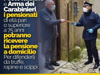 Pensione Carabinieri aprile 2020