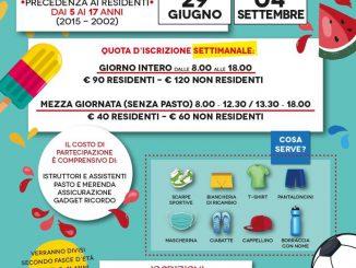 Summer camp centro sportivo Corcione giugno 2020
