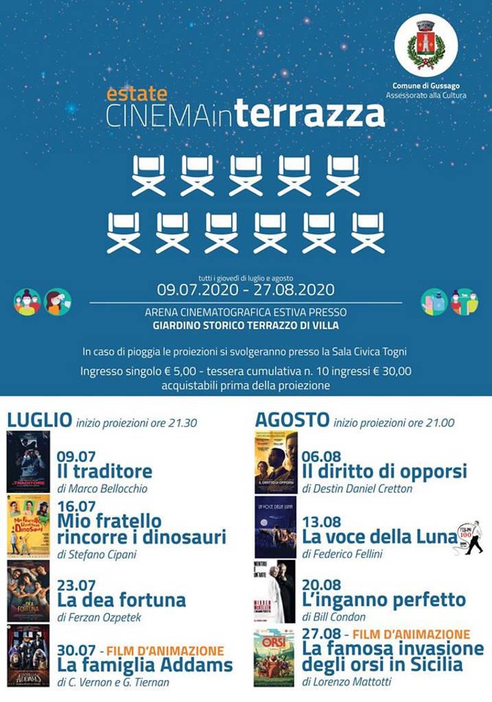Cinema in Terrazza luglio 2020