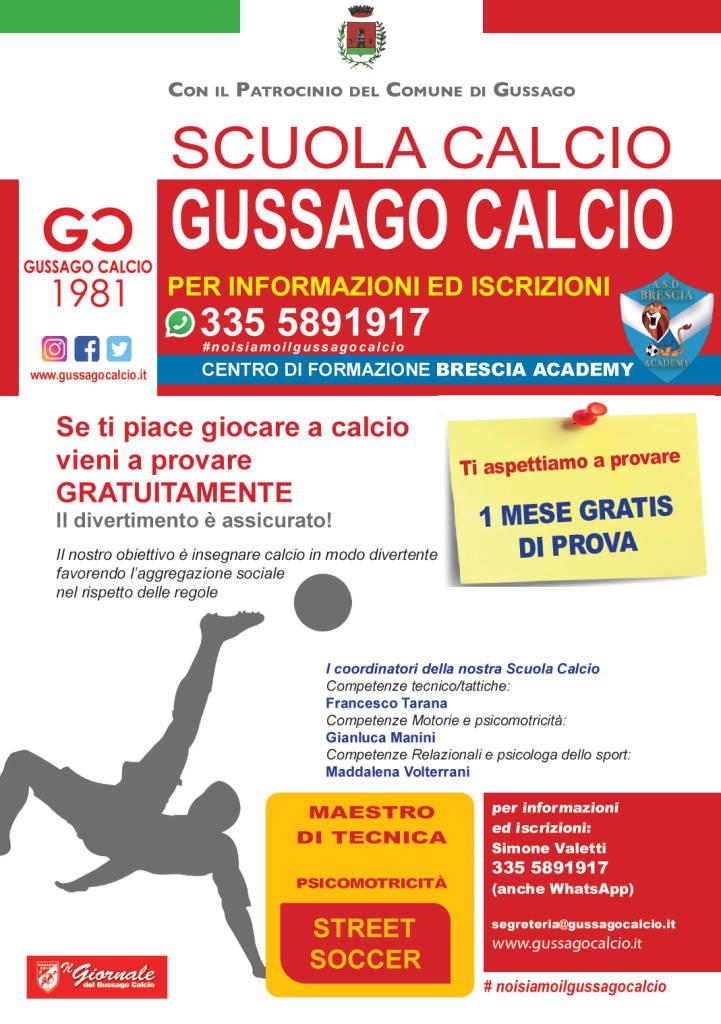 Scuola calcio Gussago Calcio agosto 2020