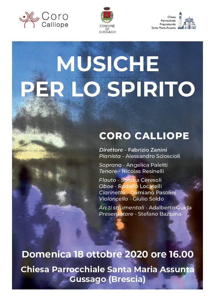 """Concerto """"Musiche per lo spirito"""" Coro Calliope ottobre 2020"""