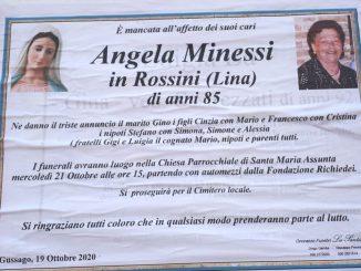 Necrologio Angela Minessi 2020