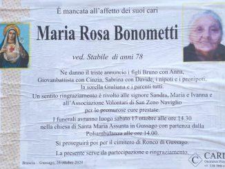 Necrologio Maria Rosa Bonometti 2020