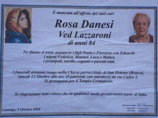 Necrologio Rosa Danesi 2020