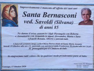 Necrologio Santa Bernasconi 2020