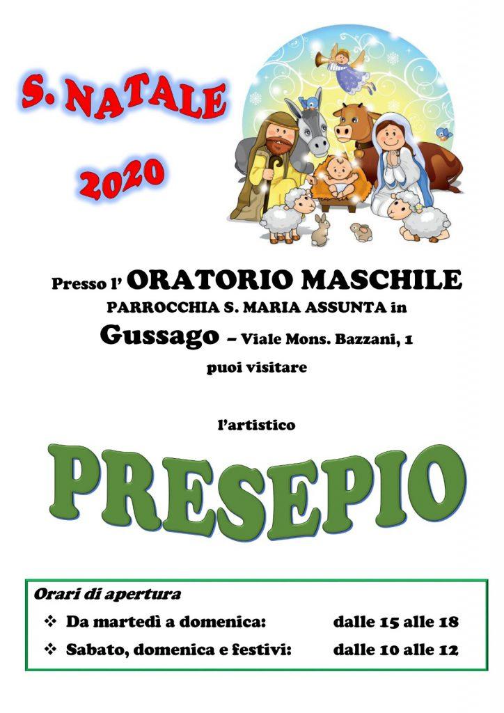 Presepio oratorio maschile dicembre 2020