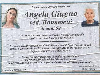 Necrologio Angelo Giugno 2021