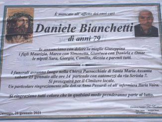 Necrologio Daniele Bianchetti 2021